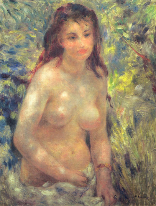 famous painting Study Torso Sunlight Effect of Pierre-Auguste Renoir