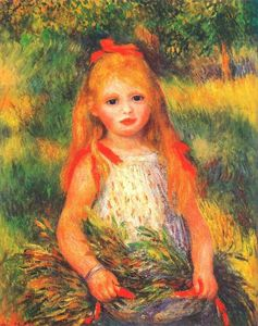 Pierre-Auguste Renoir - Girl with Flowers