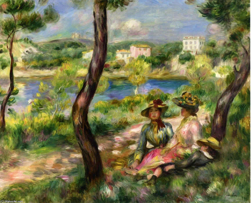 famous painting Beaulieu of Pierre-Auguste Renoir