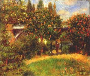 Pierre-Auguste Renoir - Railway Bridge at Chatou