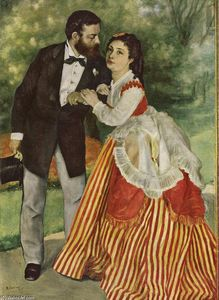 Pierre-Auguste Renoir - Portrait of the couple Sisley