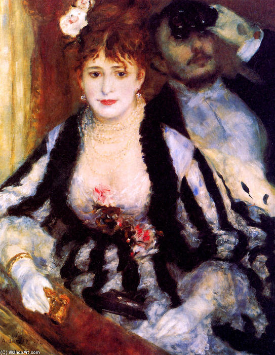 famous painting The box of Pierre-Auguste Renoir
