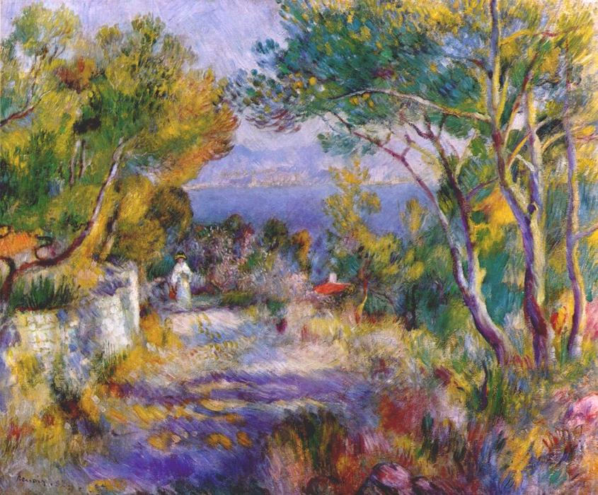 famous painting The estaque of Pierre-Auguste Renoir