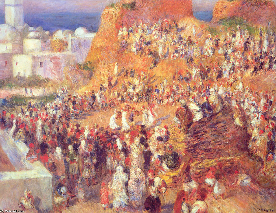 famous painting The Mosque Arab Holiday (The Casbah) of Pierre-Auguste Renoir