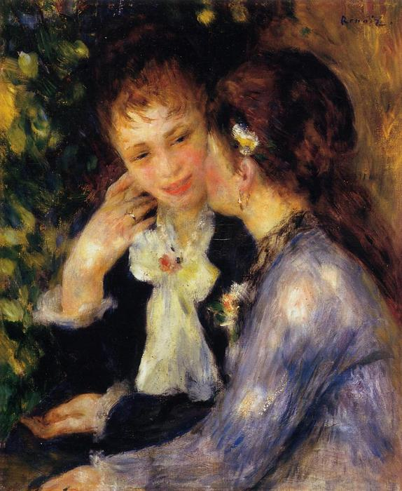 famous painting Confidences of Pierre-Auguste Renoir