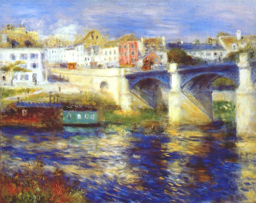famous painting The bridge at chatou of Pierre-Auguste Renoir