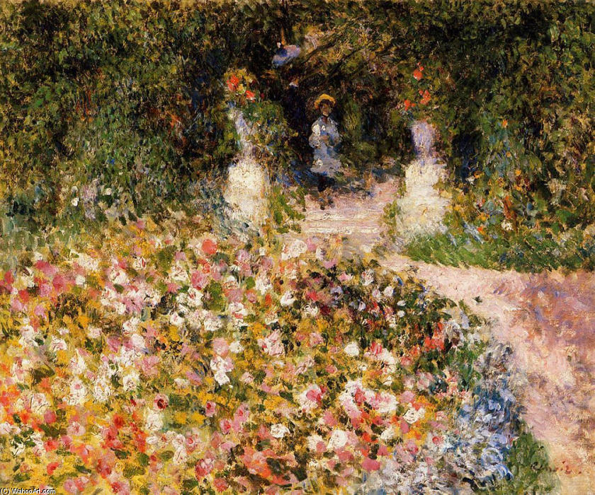 famous painting The Garden of Pierre-Auguste Renoir