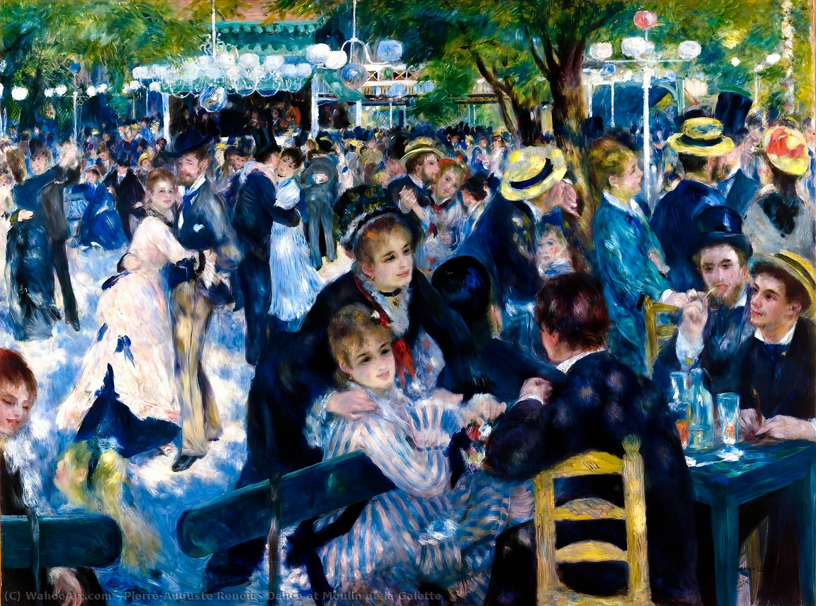 famous painting Dance at Moulin de la Galette of Pierre-Auguste Renoir