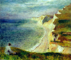 Pierre-Auguste Renoir - Cliffs on the Coast Near Pourville