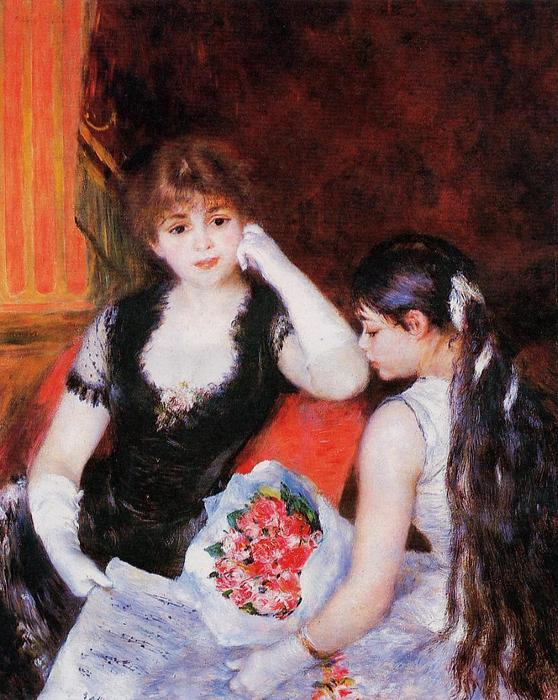 famous painting At the Concert (Box at the Opera) of Pierre-Auguste Renoir