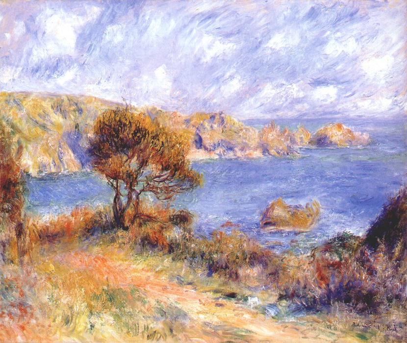 famous painting View at guernsey of Pierre-Auguste Renoir