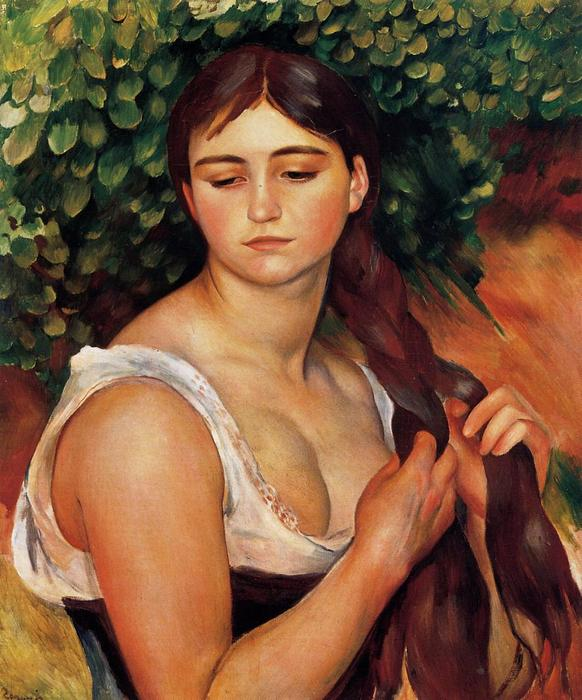 famous painting The Braid (Suzanne Valadon) of Pierre-Auguste Renoir