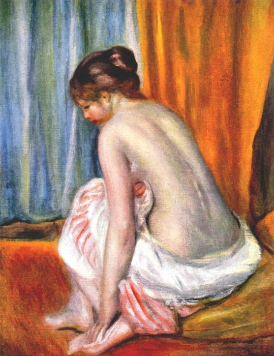 famous painting Back view of a bather of Pierre-Auguste Renoir