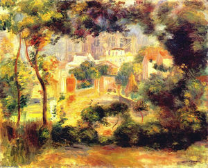 Pierre-Auguste Renoir - Looking out at the Sacre Coeur