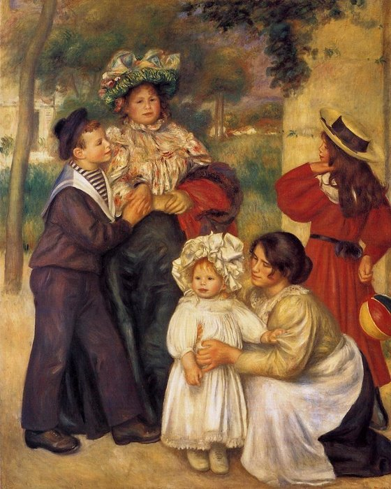 famous painting The Artist`s Family of Pierre-Auguste Renoir