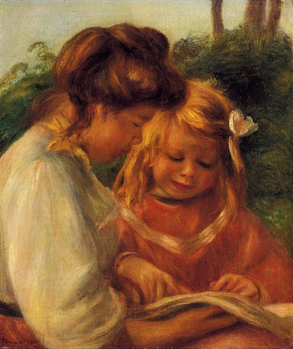 famous painting The Alphabet (Jean and Gabrielle) of Pierre-Auguste Renoir