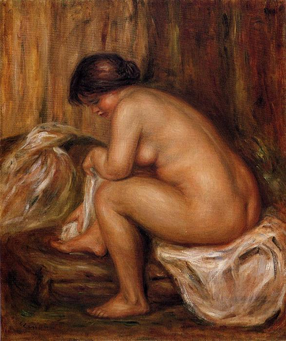 famous painting After Bathing of Pierre-Auguste Renoir