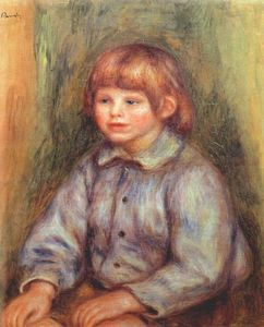 Pierre-Auguste Renoir - Seated Portrait of Claude Renoir
