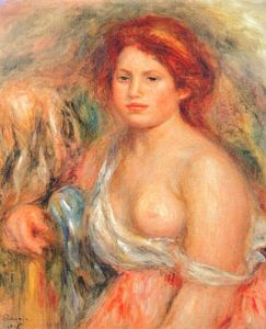 Pierre-Auguste Renoir - Model with bare breast
