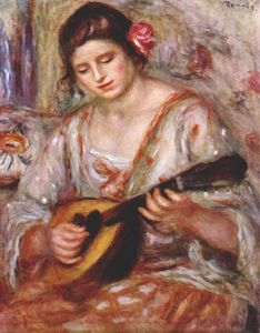 Pierre-Auguste Renoir - Girl with a mandolin