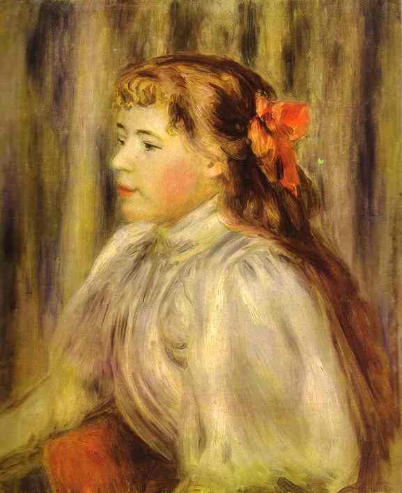 famous painting Portrait of a Girl of Pierre-Auguste Renoir