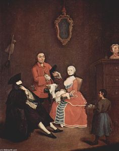 Pietro Longhi - The hairdresser