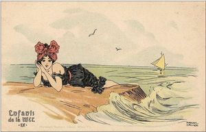 Raphael Kirchner - Boys and girls at sea
