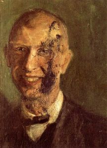 Richard Gerstl - Fragment of a smiling self-portrait at full length, detail