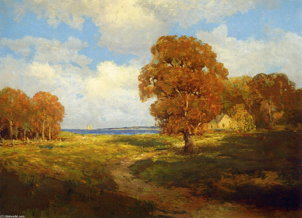 famous painting Glimpse of the Sea, Long Island of Robert Julian Onderdonk