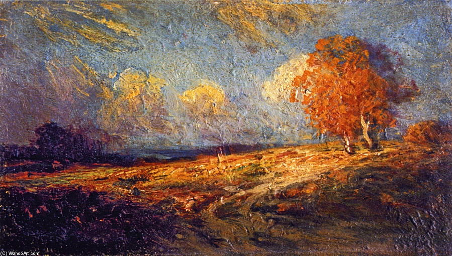 famous painting Sunlit Hillside of Robert Julian Onderdonk
