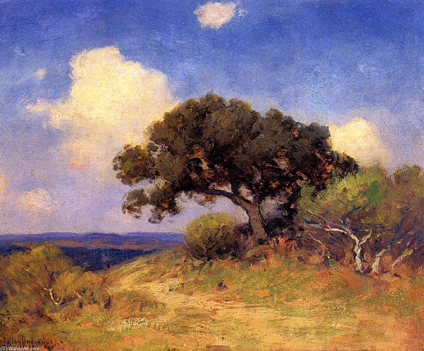 famous painting Old Live Oak of Robert Julian Onderdonk