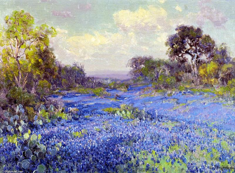 famous painting Blue Bonnets at Late Afternoon of Robert Julian Onderdonk