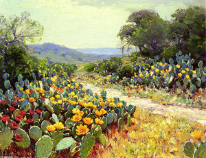 Robert Julian Onderdonk - Cactus in Bloom