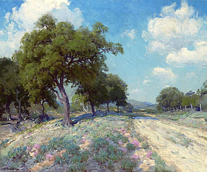 famous painting Road through the Trees of Robert Julian Onderdonk