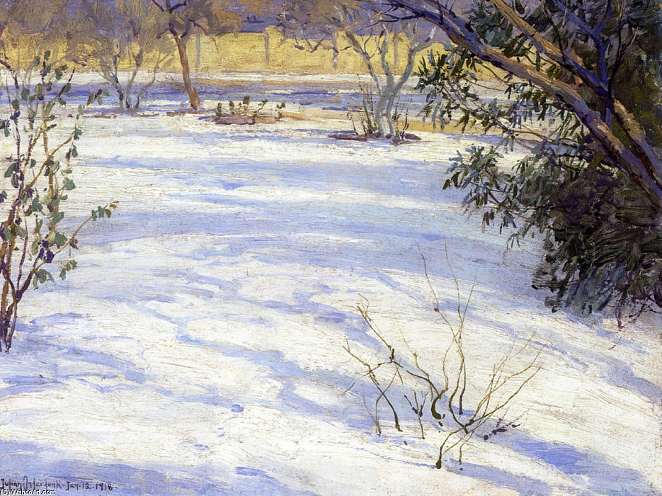 famous painting Snow Scene of Robert Julian Onderdonk