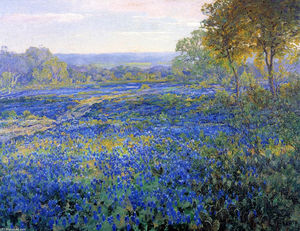 Robert Julian Onderdonk - Fields of Bluebonnets