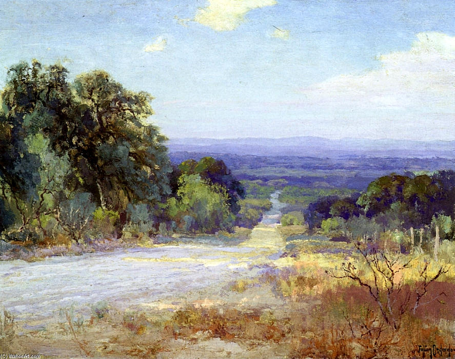 famous painting A White Road at Late Afternoon of Robert Julian Onderdonk