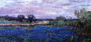 Robert Julian Onderdonk - Blue Bonnets at Twilight