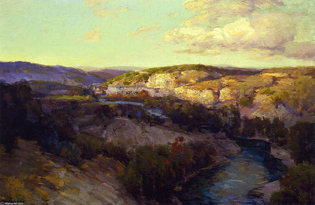famous painting Cliffs on the Guadalupe of Robert Julian Onderdonk