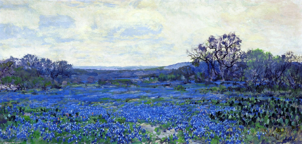 famous painting Field of Bluebonnets of Robert Julian Onderdonk
