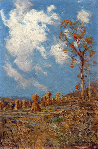 Robert Julian Onderdonk - Field with Corn Shocks