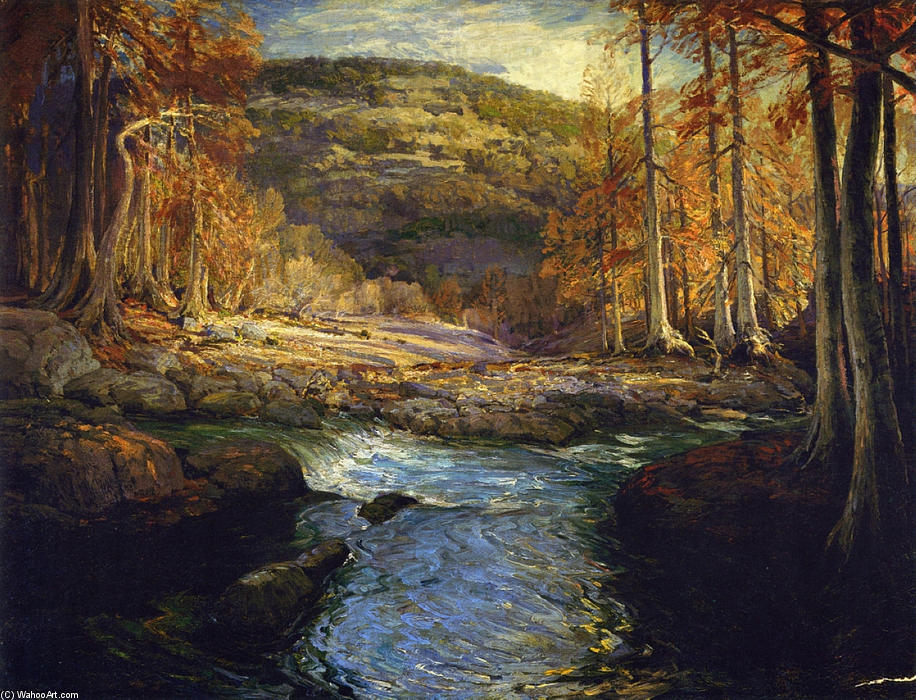famous painting Forest Stream (Headwaters of the Guadalupe) of Robert Julian Onderdonk