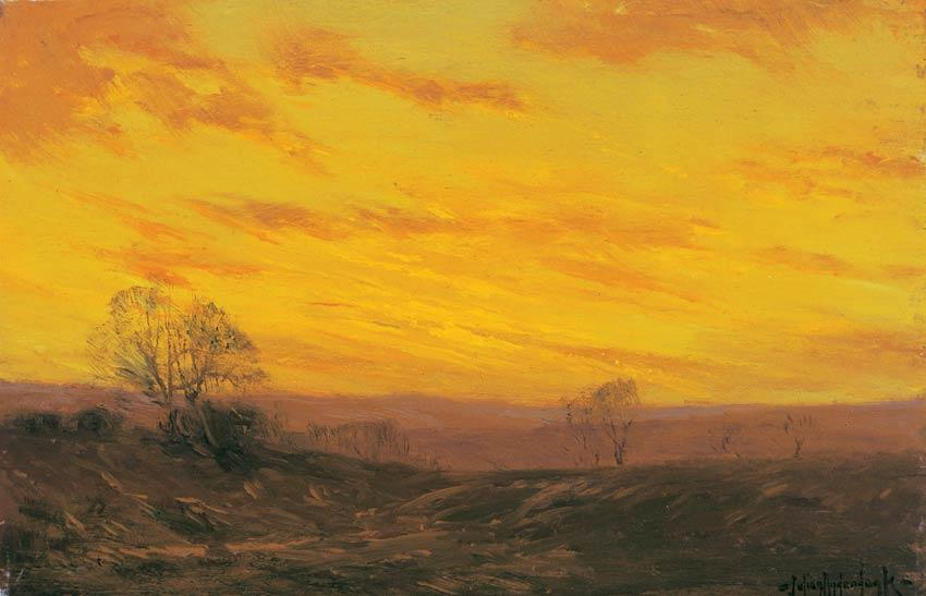 famous painting Golden Evening, Southwest Texas of Robert Julian Onderdonk