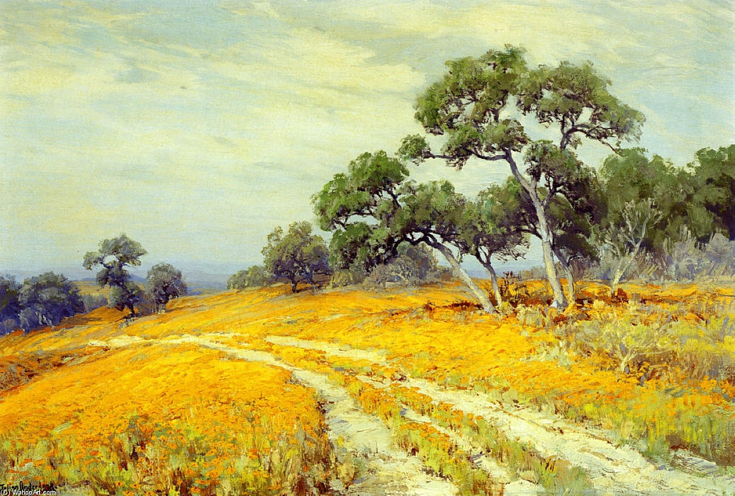 famous painting Landscape with Coreopsis of Robert Julian Onderdonk