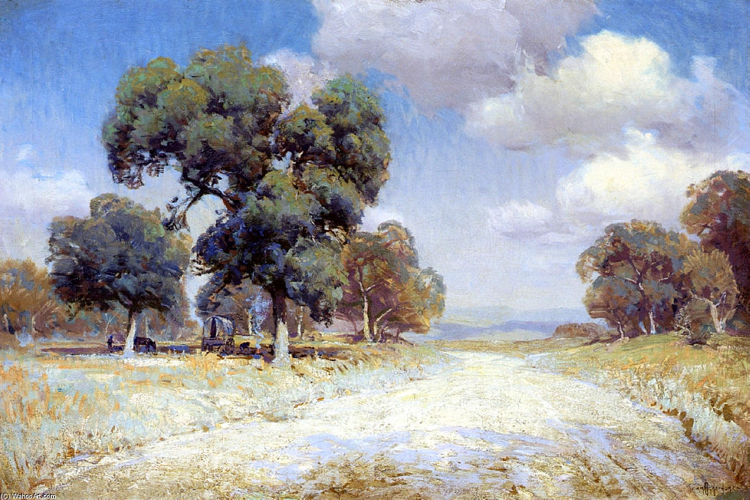 famous painting Landscape with Wagon of Robert Julian Onderdonk