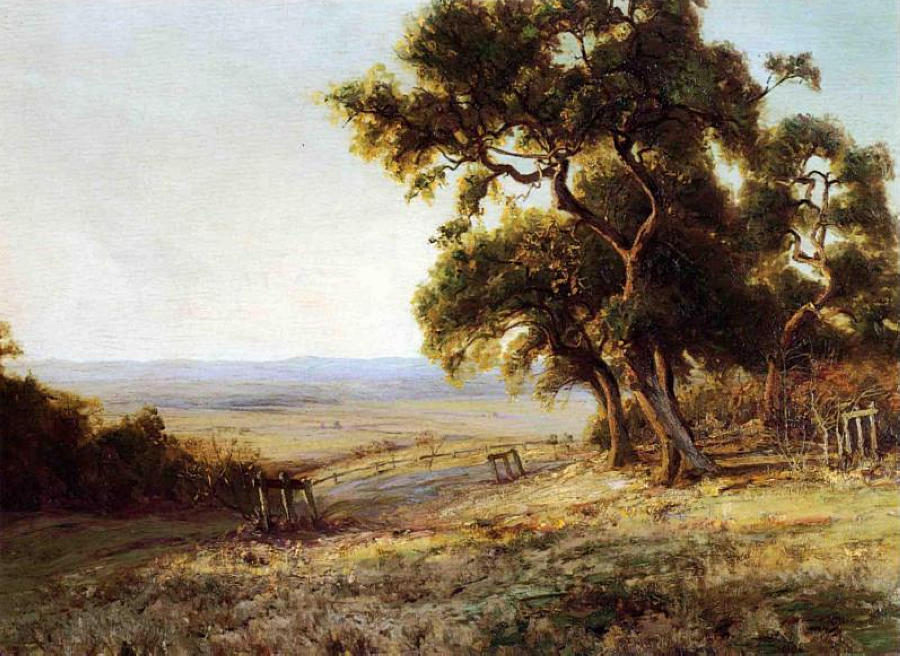 famous painting Late Afternoon, Valley of the Leon of Robert Julian Onderdonk