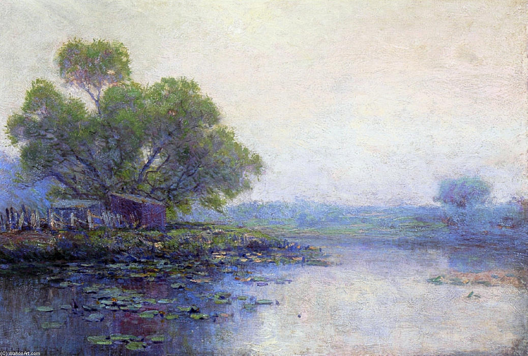 famous painting Morning on the Pond of Robert Julian Onderdonk