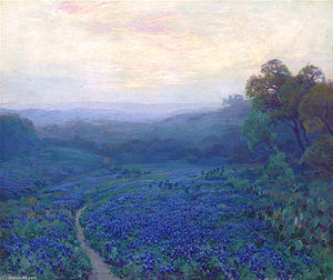 Robert Julian Onderdonk - Path through a Field of Bluebonnets