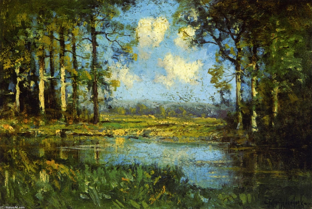 famous painting The Woodland Pool of Robert Julian Onderdonk