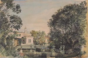 Rudolf Von Alt - The Imperial Palace Livadia in the Crimea